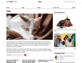cats.lovetoknow.com screenshot