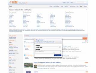 cats.oodle.com screenshot