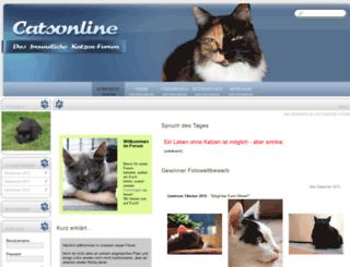 catsonline-forum.de screenshot