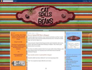 catspillsthebeans.blogspot.com screenshot