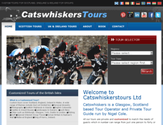 catswhiskerstours.co.uk screenshot
