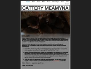 catteryvandemeamyna.nl screenshot