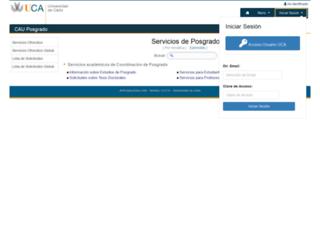 cau-posgrado.uca.es screenshot