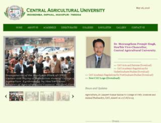 cau.org.in screenshot