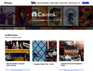 causes.com screenshot