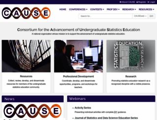 causeweb.org screenshot