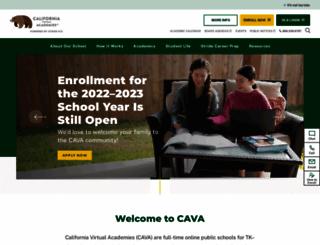 cava.k12.com screenshot