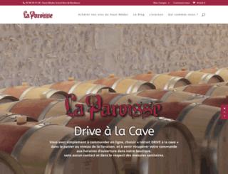 cave-la-paroisse.com screenshot