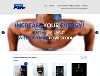 cavemanathlete.com screenshot