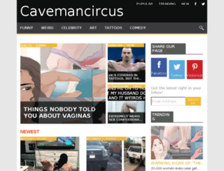 cavemancircus.net screenshot
