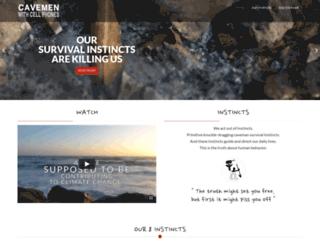 cavemenwithcellphones.com screenshot