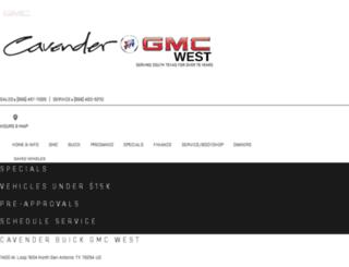 cavenderbuickgmc-west.com screenshot