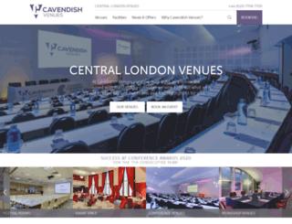 cavendishconferencevenues.co.uk screenshot