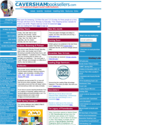 cavershambooksellers.com screenshot