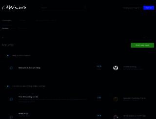 caws.ws screenshot