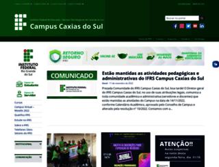 caxias.ifrs.edu.br screenshot