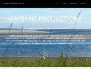 cayenneproductions.ca screenshot