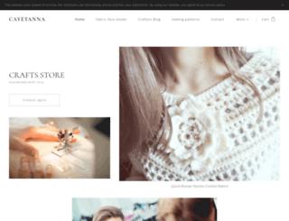 cayetanna.com screenshot