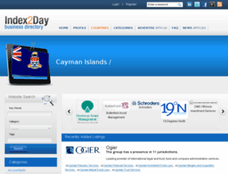 caymanislands.index2day.com screenshot