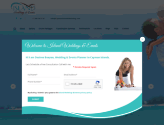 caymanislandsweddingsandevents.com screenshot