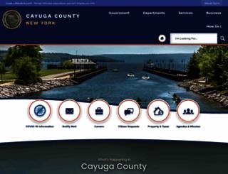 cayugacounty.us screenshot