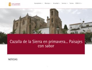 cazalladelasierra.es screenshot
