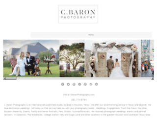 cbaronphotography.com screenshot