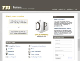 cbasys.fiu.edu screenshot