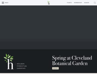 cbgarden.org screenshot