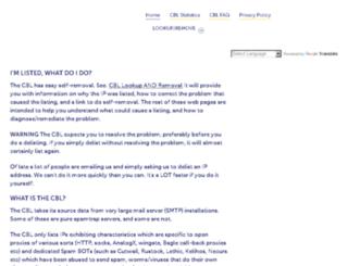 cbl.abuseat.org screenshot