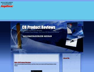 cbproductreviews.angelfire.com screenshot
