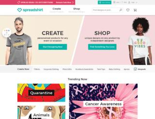 cbrapparelandaccessories.spreadshirt.com screenshot