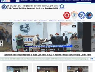 cbri.res.in screenshot