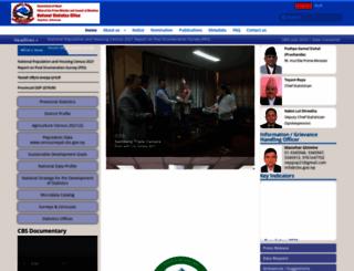 cbs.gov.np screenshot