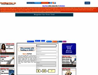 cbse-psa11.testbag.com screenshot