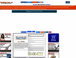 cbse-psa9.testbag.com screenshot