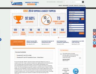 cbse.maheshtutorials.com screenshot