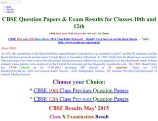 cbse.net-question.in screenshot
