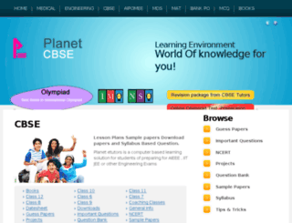cbse.planetetutors.com screenshot