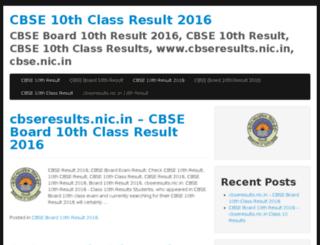 cbse10thclassresult2016.co.in screenshot