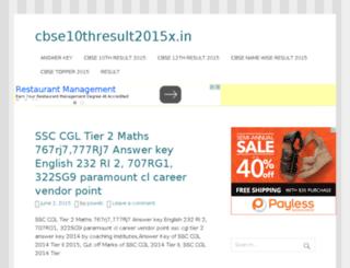 cbse10thresult2015x.in screenshot