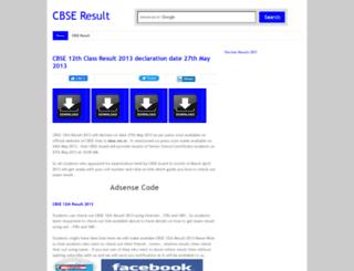 cbse12thresult2013.blogspot.in screenshot