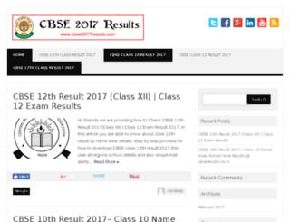cbse2017results.com screenshot