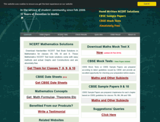 cbsemathspapers.com screenshot