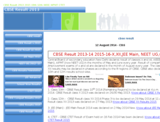 cbseresult2013.com screenshot