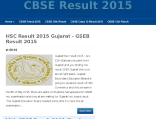 cbseresult2015i.in screenshot