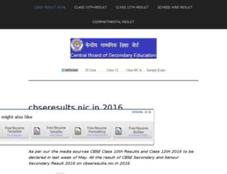 cbseresult2016.in screenshot