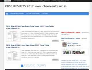 cbseresults-nicc.in screenshot