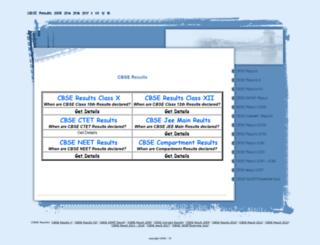 cbseresults2008.com screenshot