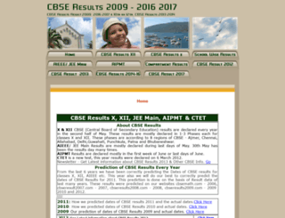 cbseresults2009.com screenshot